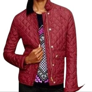J.Crew Red quilted Jacket size S